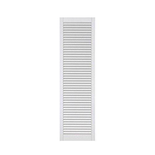 1-er Pack/Ein Stück Lamellentüren weiß seidenmatt mit offenen Lamellen Kiefernholz 1406 x 394 x 21 mm für Regale, Schränke, Möbel - EINBAUFERTIG grundiert