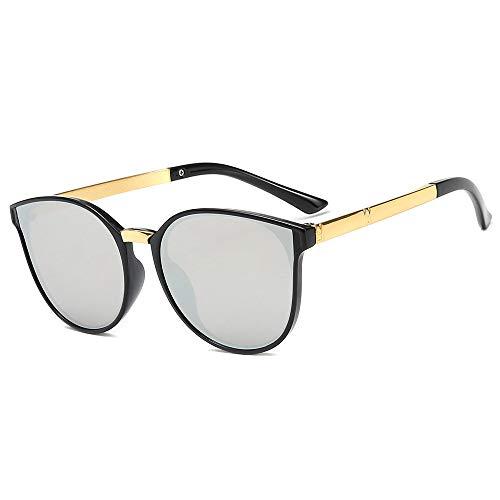 Gafas Gafas De Sol con Protección UV Gafas De Sol con Montura Redonda For Niños Gafas De Sol De Metal con Película Marina Personalizadas (Color : A)