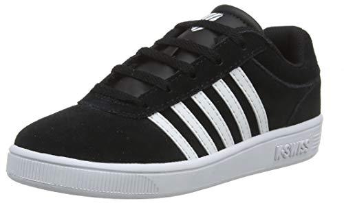 K-Swiss Unisex-Kinder Court CHESWICK SDE Sneaker, Schwarz (Black/White 002), 32 EU