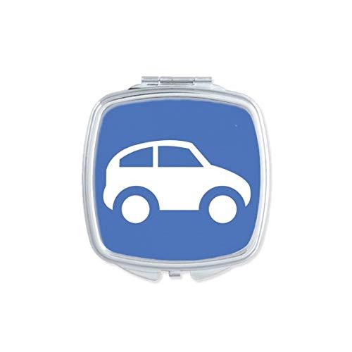 DIYthinker Véhicules d'énergie Protéger l'environnement Motif carré Miroir de Maquillage Compact Portable Mignon Miroirs de Poche à la Main Cadeau Multicolore