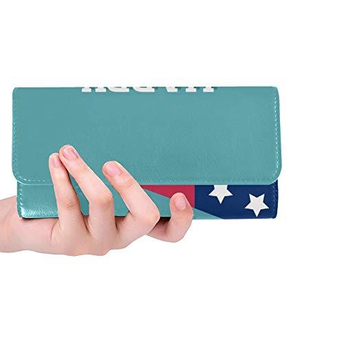 Einzigartige benutzerdefinierte Labor Day Gruß Einladungskarte Frauen Trifold Wallet Lange Geldbörse Kreditkarteninhaber Fall Handtasche