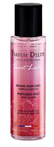 PARFUM D'ELITE PARIS - Sweet Lady - Parfum-Bodyspray Körper & Haar - Beauty-Produkt für Damen, Lang anhaltend, Reiseformat 100 ml