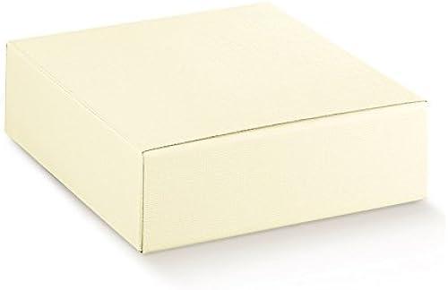 10 ück Schachtel Etui Bonboniere 45 35 5cm SEIDE Elfenbein