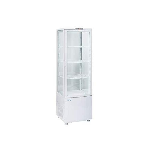 Cool Head - Vitrina refrigerada de 4 caras con cristal positivo, 235 l, color blanco
