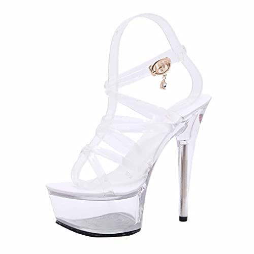 Bombas De Plataforma para Mujer Sandalias De 15 CM Zapatos De Baile...