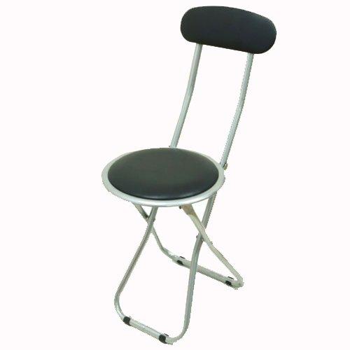 パイプスリム折りたたみ椅子『FB-32BK』【IT】(#9837555)サイズ:約30×46×75cm パイプ椅子 パイプいす