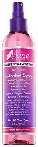 THE MANE CHOICE Sweet Strawberry Fruit Medley KIDS Hydration Spray - Hair Treatment To Moisturize and Hydrate Your Hair ( 8 Ounces / 236 Milliliters )
