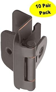 Amerock BP8704-ORB 1/2-inch (13mm) Overlay Double Demountable Cabinet Hinge, Oil Rubbed Bronze - 10 Pair (20 Units)