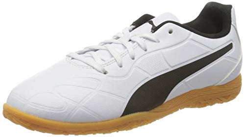 PUMA Monarch IT JR, Scarpe da Calcio Unisex-Bambini, White Black Gum, 33 EU
