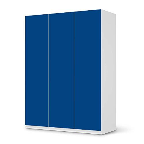 creatisto Möbel-Tattoo passend für IKEA Pax Schrank 201 cm Höhe - 3 Türen I Möbelsticker - Möbel-Sticker Aufkleber Folie I Innendekoration für Esszimmer, Wohnzimmer - Design: Blau Dark