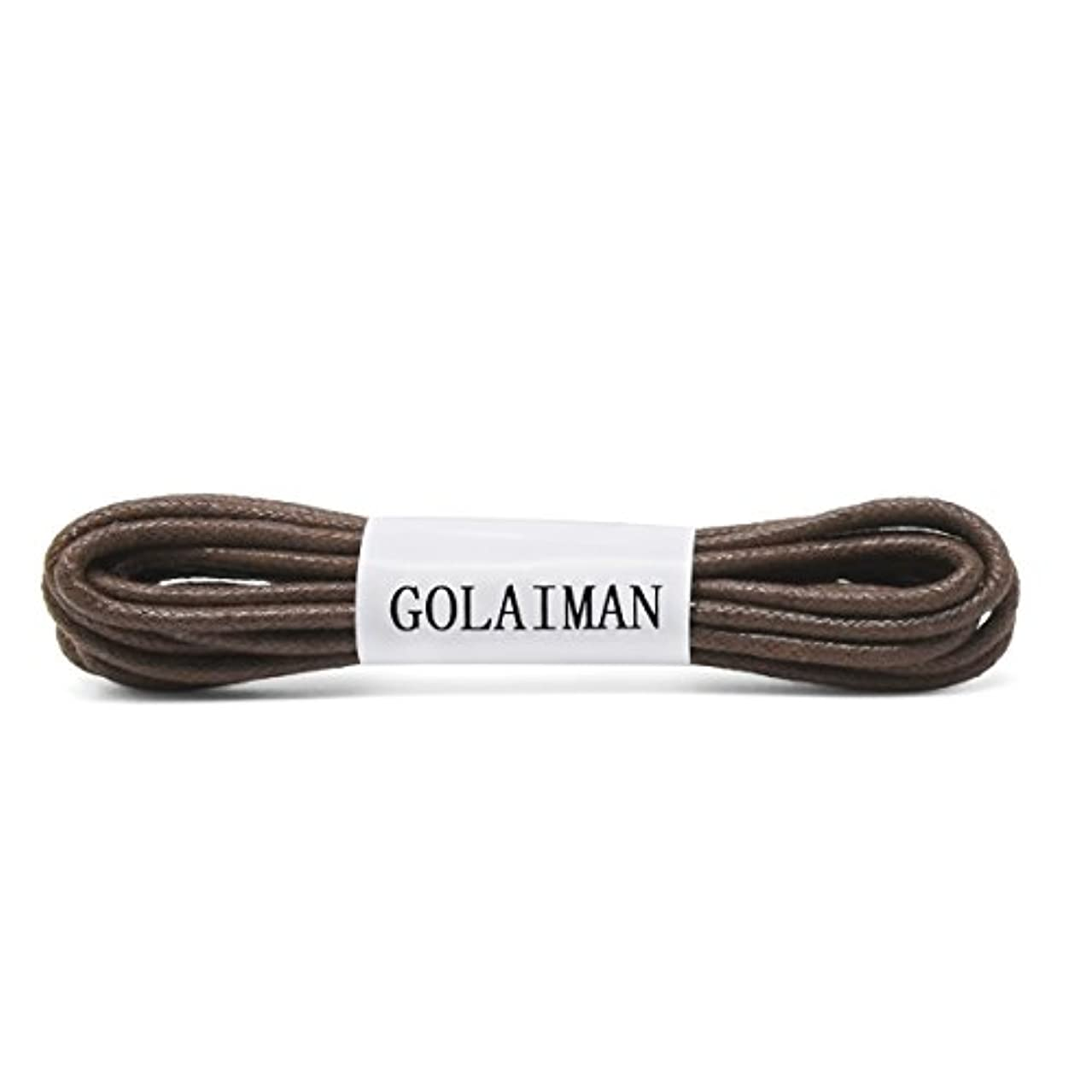 GOLAIMAN Waxed Dress Shoe Laces - Round Oxfords Shoelaces Leather Shoe Lace For Men Women