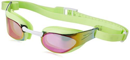 Speedo Fastskin Elite Mirror JU Gafas de natación, Juventud Unisex, Bright Zest/White/Red, Talla única