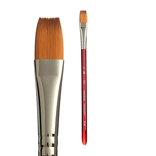 Princeton Velvetouch Artiste, Mixed-Media Brush for Acrylic, Watercolor & Oil, Series 3950 Wash Luxury Synthetic, Size 1/2