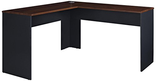 Ameriwood Home The Works L-Shaped Desk, Cherry