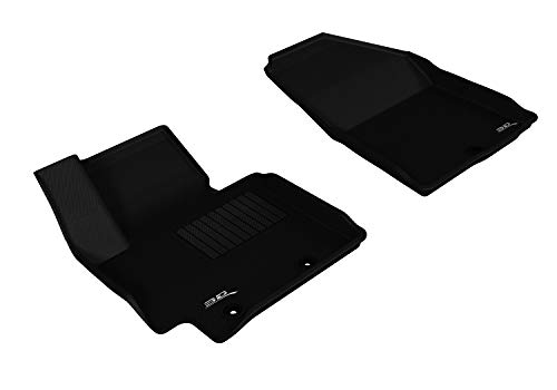 3D MAXpider Front Row Custom Fit All-Weather Floor Mat for Select Soul Models - Kagu Rubber (Black)