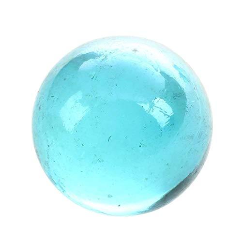 SODIAL(R) 10pcs Bille Perle Ronde Verre Marbre Jeux Jouet Enfant Vase Aquarium Poisson Decoration Bleu Clair