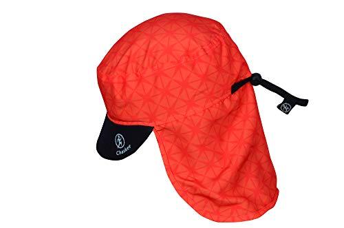 Chaskee Junior Sahara Trip Star Bonnet pour Enfant avec Protection du Cou et Protection Solaire 80 cm Orange