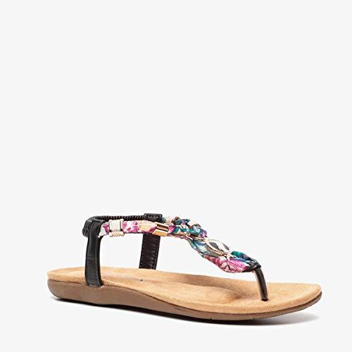 Blue Box dames sandalen - Zwart