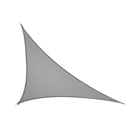 SRTUVDQ Toldo Vela De Sombra Triángulo Rectángulo, Protección Rayos UV Y HDPE Transpirable para Patio, Exteriores, Jardín,Gris,3X4X5m