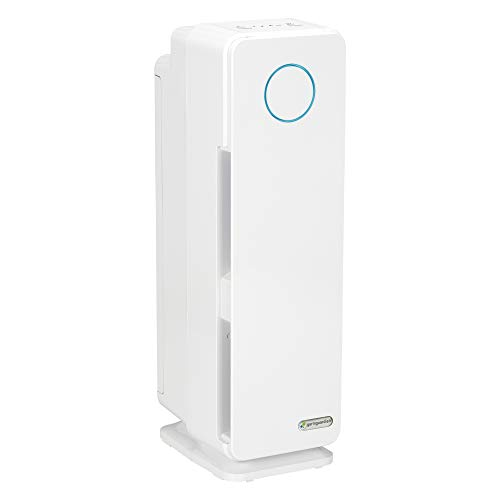Germ Guardian True HEPA Filter Air Purifier, UV Light Sanitizer, Eliminates Germs, Filters Allergies, Pets, Pollen, Smoke, Dust, Mold, Odors, Quiet 22 inch 5-in-1 Air Purifier for Home, White