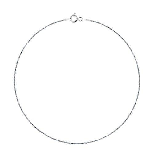 Planetys - Schlangenkette Knöchelkette Fußkettchen 925 Sterling Silber rhodiniert 1 mm Breite