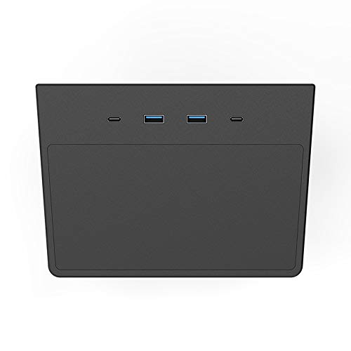 Fransande Coche USB Hub Dashcam y Visionador de Modo Sentry Accesorios de Consola Central Hub USB 5 en 1 para Tesla Model 3 / Y 2020+