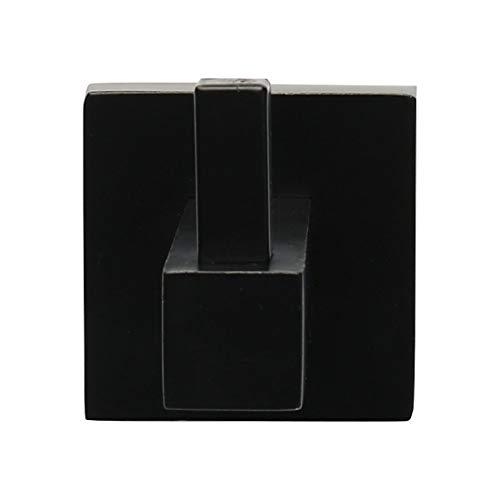 uxcell Soporte de Pared para Colgar Toallas, de Acero Inoxidable, Color Negro