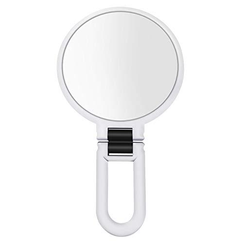 Vtrem Miroir de Maquillage grossissant Double Face avec grossissement 15 x 1 x Blanc