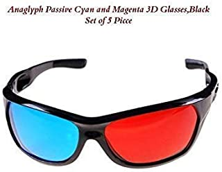 3D Vision Anaglyph Glasses Projector Use TV Video Movie DVD Games Glasses Red and Blue Colour Set of 2 by View Zone