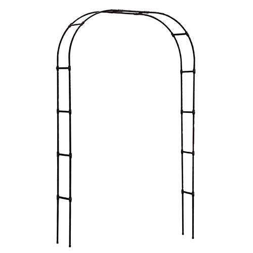 Tall 2.4M Metal Garden Arch, Strong Tubular Garden Arbour for Roses Climbing Plants, Support Archway, Wedding Decoration (Black, White)