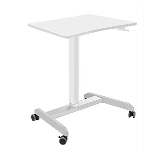 JRPT Welcome Desk Einstellbare 38.5Cm,Rednerpult Bewegen Kann,Stehpult Frei,Multifunktions (Tragende: 60Kg) Dauerhaft/Weiß / 112×69×51cm