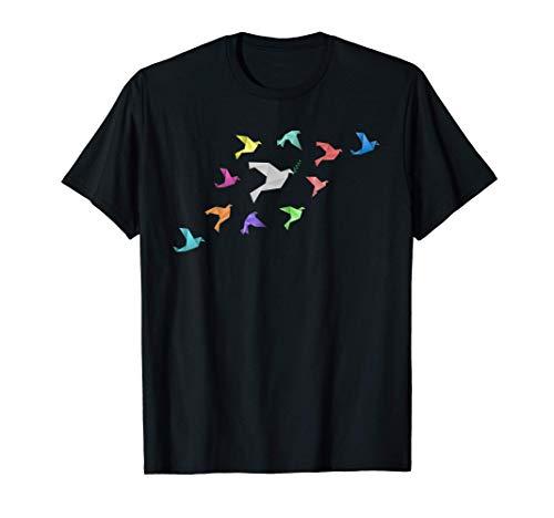 Paloma de la paz de origami con pájaro de origami - comunión Camiseta