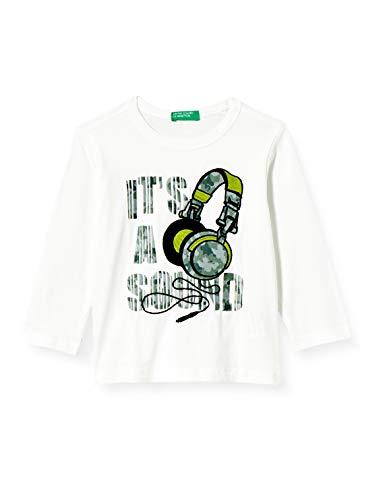 United Colors of Benetton Baby-Jungen T-Shirt M/l Langarmshirt, Weiß (Bianco 101), 86/92 (Herstellergröße: 2y)
