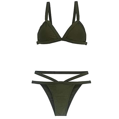 GUOZI Bikini Bandage Bikinis Zwemkleding Vrouwen Badpak Bikini Set Groene Print Halter Top Beach Wear Badpakken S-XL