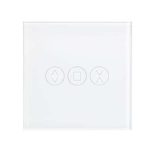 OWSOO WiFi-Vorhangschalter Tuya | für elektromotorische Vorhang Jalousie Rollladen Garagentor Motor | EU/UK Smart Touch-Schalter | kompatibel mit Amazon Alexa Google Home Sprachsteuerung