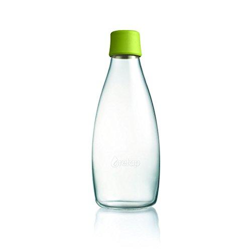 Wiederverwendbare Wasserflasche mit Verschluss - 0,8 Liter, Farbe:Hellgrün