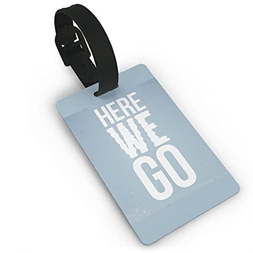 Etiquetas para equipaje de viaje de PVC We are All Mad Here para viajeros inteligentes, mejor para prevenir la pérdida de bolsas y maletas