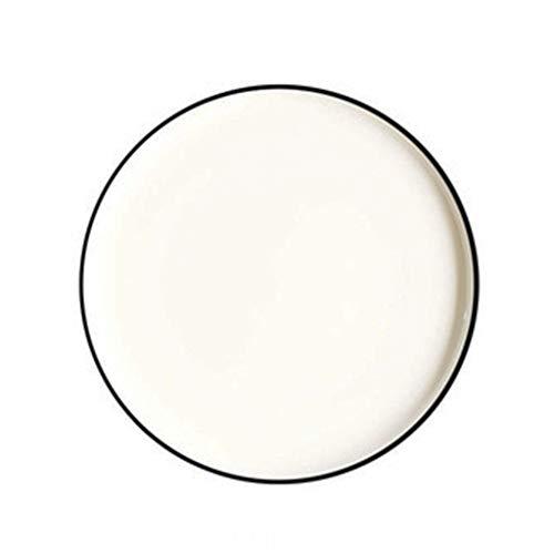 Assiette Céramique Plat Occidental À Steak À Salade À Pizza Vaisselle De Cuisine Phnom Penh Bord Noir Bord Bleu Home 25.4cm (Color : Black, Size : 25.4 * 2.6cm)