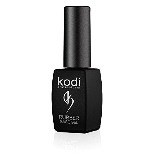 Kodi - Smalto gel rubber base, 8 ml, kit di smalto soak off per unghie, a lunga durata, facile da usare, atossico e inodore, si asciuga con la lampada UV o LED