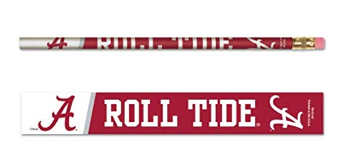 NCAA University Alabama Crimson Tide 6-Pack Standard Pencils