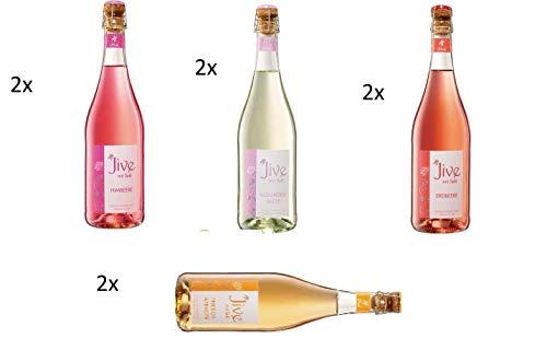 8 Flaschen Jive Mix 4 Sorten Himbeere Holunderblüte Erdbeere Pfirsich Maracuja a 750ml