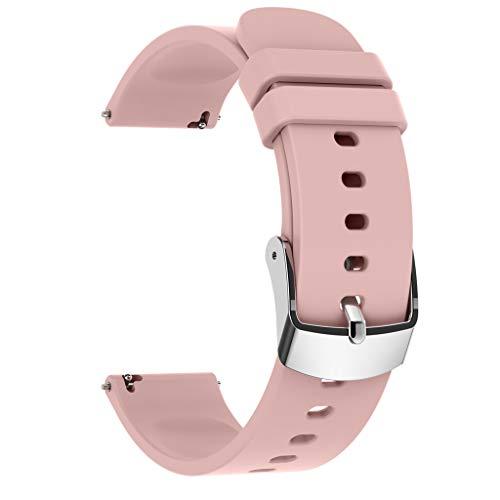 Team99 - Correa de silicona universal de 20 mm para reloj inteligente P22 y otras pulseras inteligentes para hombres y mujeres