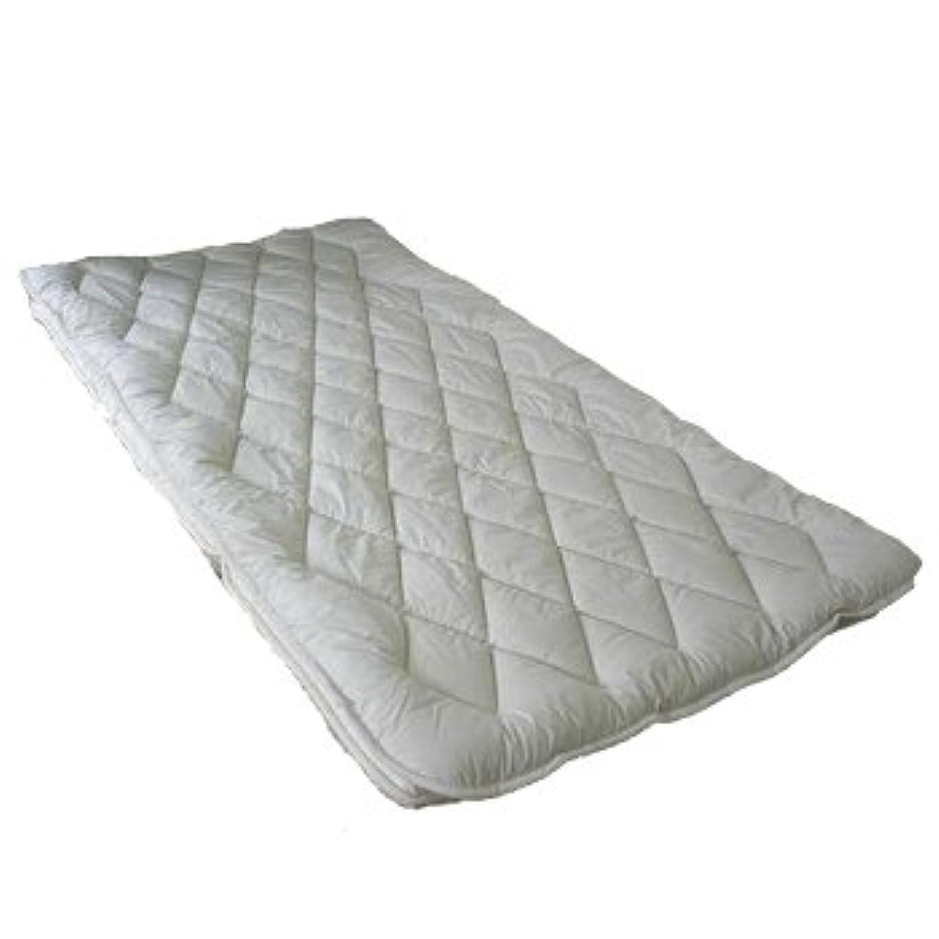 コイル押す行列洗濯機で丸洗いOK フランスウール(洗浄羊毛)100% ベッドパッド クイーン(170×200cm)