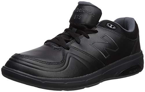 New Balance womens 813 V1 Hook and Loop Walking Shoe, Black, 7.5 Wide US