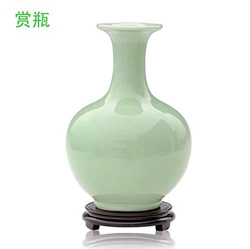Porseleinen vaas, Bloemschikking, Woonkamer in Chinese stijl, Huismeubels, Wijnkast Ambachten Decoratie, Hoogte 22,5 * 15cm