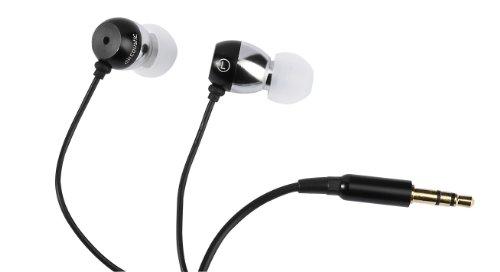 Aircoustic FA 3038 Sound 4 All Stereo Metall-In-Ear-Ohrhörer (Tasche, wechselbaren Silikonohrpolstern) schwarz/silber