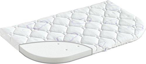 Träumeland T030521 - Matratze Sleepy für Beistellbett, Größe 80 x 42 cm, eine Seite abgerundet