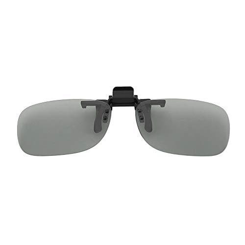 WEQQ Clip para Gafas 3D polarizadas Circulares pasivas Clip para LG 3D TV Cinema Film Gris