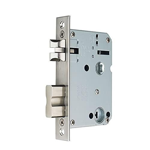 Cerradura Puerta Cuerpo de bloqueo de huellas dactilares de 50x50, panel de acero sin duración, cuerpo de cerradura de puerta de madera interior, margen de bloqueo 50 Distancia central 50, Cerraduras