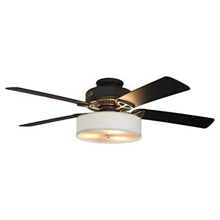Fan Light Kit For Ceiling Fan Linen Drum Shade Cream Fan Not Included Amazon Com
